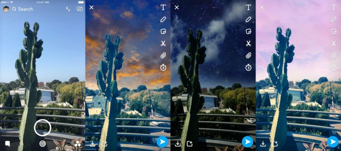 Snapchat's latest augmented reality feature lets you paint the sky with new filters