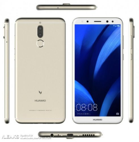 Huawei G10 Press Renders Leaked with 18:9 screen and Quad-cameras