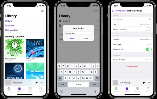 How to use Podcasts stations to play episode playlists like 'daily news shows' on HomePod
