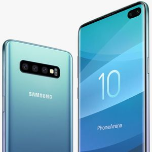 Press image shows reverse wireless charging feature on the Samsung Galaxy S10+