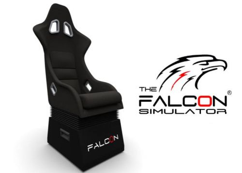 Falcon simulator chair for racing and flight sim immersion