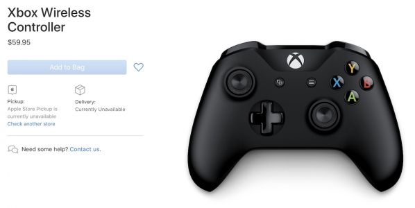 Apple Adds Microsoft's Xbox Wireless Controller to its Online Store