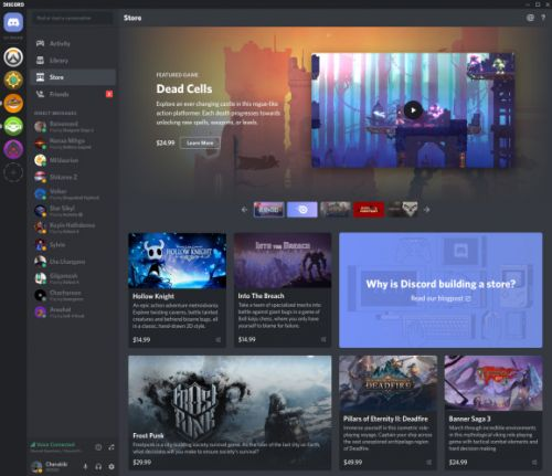 Discord adds games to its Nitro subscription service and opens a store