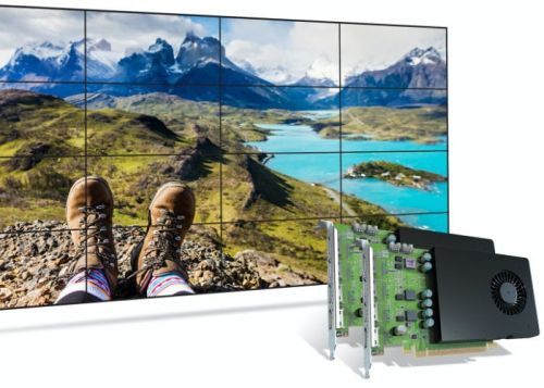 Matrox D-Series D1480 graphics card supports 4 x 4K displays or synchronize 16 displays as one