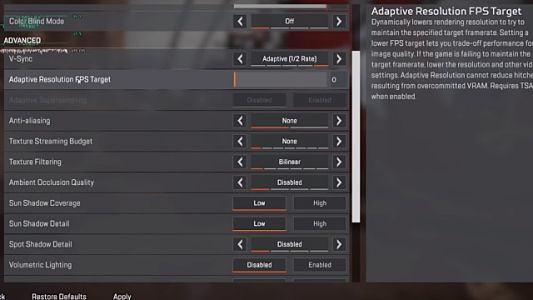 Apex Legends PC Requirements and Optimized Settings