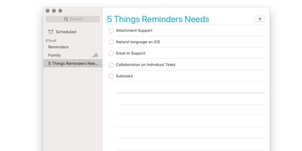 Apple's Reminders app needs five additional features to be a true task manager