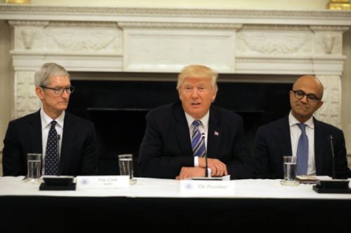 Trump disputes China-Russia cellular spying story in tweet from iPhone