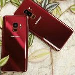 Galaxy S9 and S9+ in Burgundy Red appear in real life photos. Looking hot!
