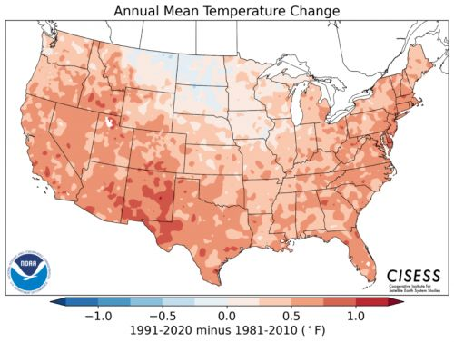 The new abnormal is warming up the US government's new climate norms