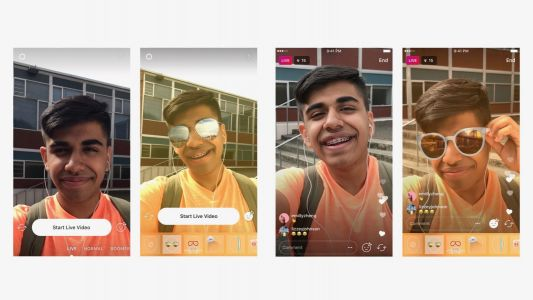 Instagram brings its popular face filters to live video sharing