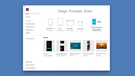Adobe XD adds cloud document support, live collaboration promised in the future