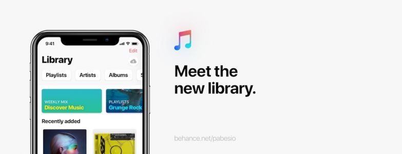 Graphic Designer Envisions Apple Music With Simpler UI, Music History Stats, Group Playlists, and More