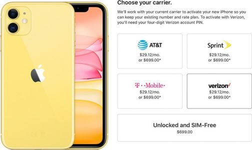 IPhone 11 and 11 Pro Available Unlocked at Launch Day, AppleCare+ Priced at $199 for 11 Pro and $149 for 11