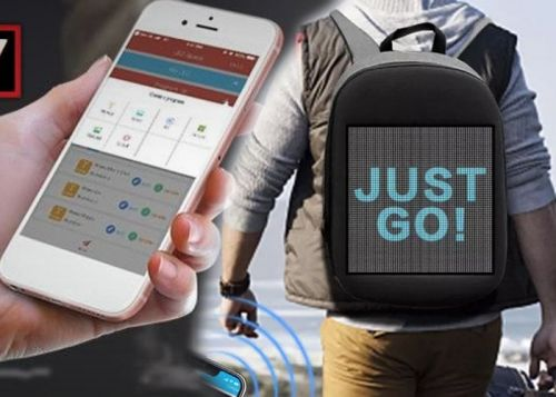 IVY smartphone controlled screen backpack