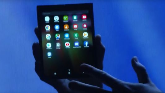 This is Samsung's foldable phone with its Infinity Flex Display