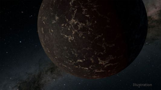 Super-Earth at a nearby star is a Mercury-like hunk of rock