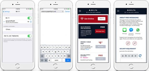 Delta to Offer Free In-Flight Access to iMessage, WhatsApp, and Facebook Messenger