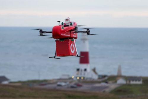 Vodafone makes a drone delivery using 4G