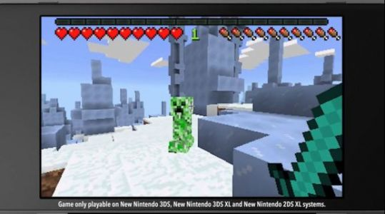 Minecraft comes to Nintendo's upgraded New 3DS systems today