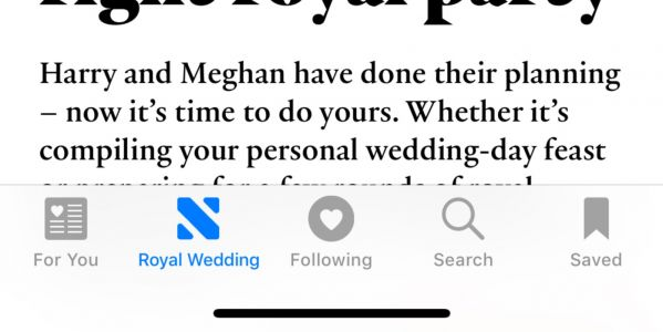 Apple News features Royal Wedding coverage with special tab for UK users