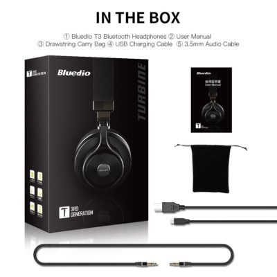 Amazon Prime Day 2017: Bluedio T3 Extra Bass Bluetooth Headphones for $34 - 7/11/17
