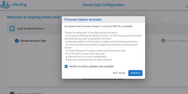 Starling Home Hub 8.0 firmware adds Developer Connect API to take Nest products beyond HomeKit