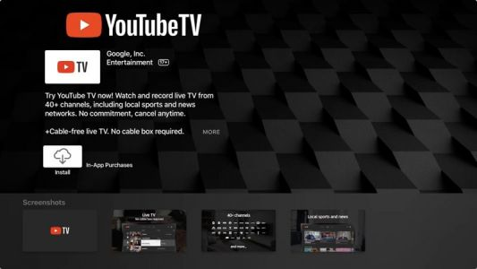 YouTube TV App Officially Launches for Apple TV