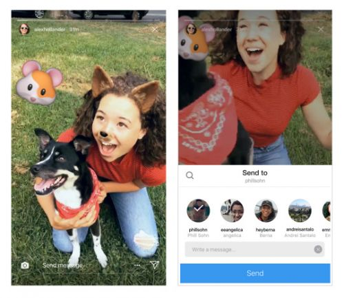 You Can Now Share Instagram Stories In Direct Messages