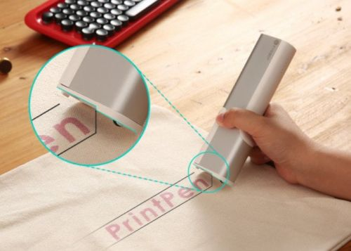 PrintPen handheld printer, prints on a variety of surfaces and materials