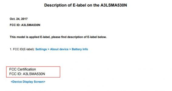 Samsung Galaxy A5 (2018) Gets Green Light From The FCC