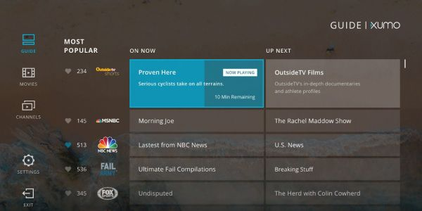 Android TV picks up free streaming service XUMO w/ over 160 live channels