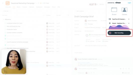 Asana brings video messaging to teams and finally arrives on desktop