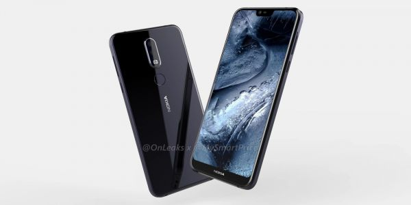 Nokia 7.1 Plus leaks in 360-degree render w/ notched display, headphone jack