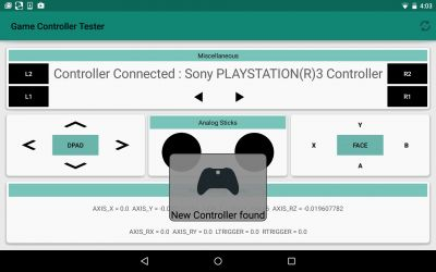 Game Controller Test lets you try various game controllers on Android