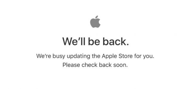 Apple's Online Store Down Ahead of iPhone, Apple Watch, and Apple TV Pre-Orders