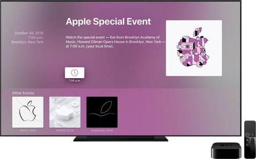 Apple Updates Events App for Apple TV Ahead of October 30th Keynote