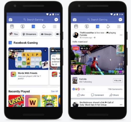Facebook launches gaming tab as a shortcut to gamer culture