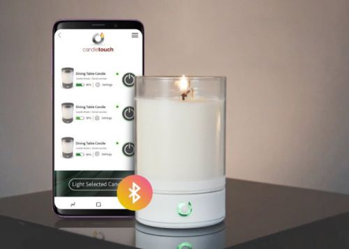 Candle Touch smart, connected real flame candle