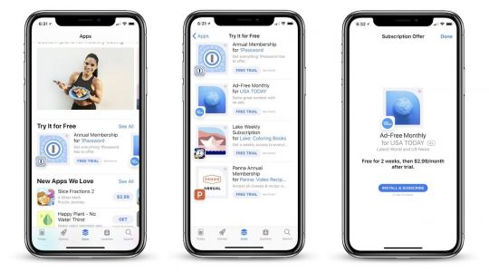 Apple Promotes Subscription-Based Apps With Free Trials in the App Store