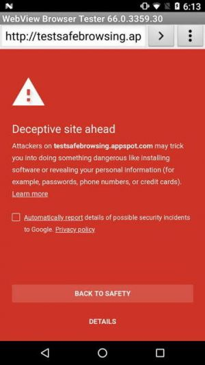 Google's Safe Browsing Is Now Integrated Into Android Apps