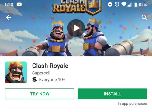 "The Play Store gets a ""try now"" button for games, no install required"