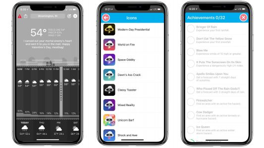 Carrot Weather adds new achievements feature, customizable app icon support, and more