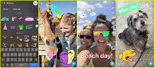 Snapchat taps Giphy to let you add animated GIF stickers to your photos and videos