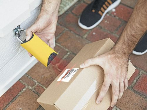 This lock protects your packages without letting strangers into your home