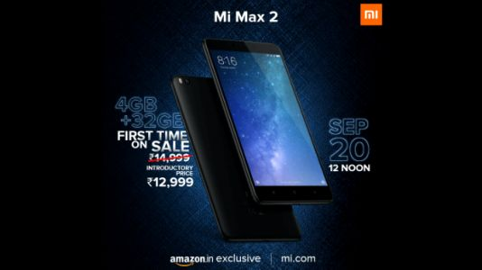 Xiaomi launched Mi Max 2 32GB variant in India at introductory price of Rs. 12,999
