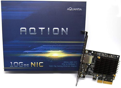 Aquantia launches AQtion AQN-107 'Gamer Edition' 10G PCIe NIC for Windows 10 and Linux