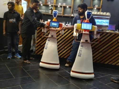Restaurant In India Rolls Out Robots That Can Take Orders And Serve Customers