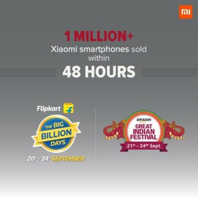 Xiaomi Sold Over 1 Million Smartphones In India In 48 Hours