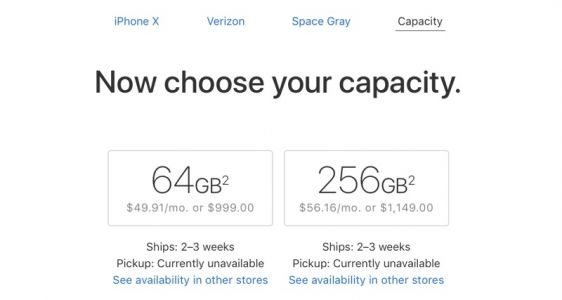 IPhone X Shipping Estimates Improve to 2 to 3 Weeks in United States and Canada