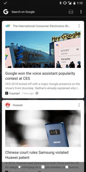 Google Feed Tests Search Option Removal From Pixel Launcher